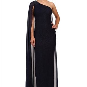 NWT Adrianna Papell Navy Blue formal gown